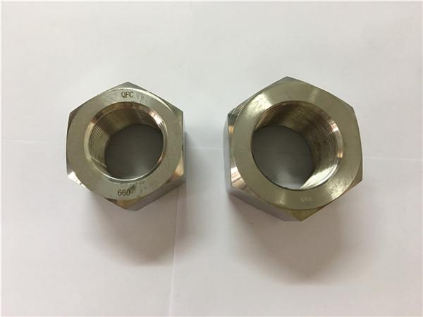 fabrication d'alliage de nickel a453 660 1.4980 écrous hexagonaux