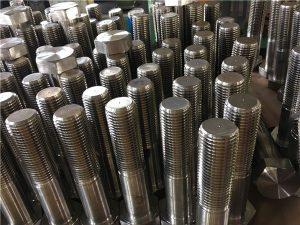 Boulons No.12-hex ISO4014 demi-filetage A193 B8, B8M, B8T, fixation B8C SS