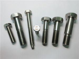 No.25-Incoloy a286 boulons hexagonaux 1.4980 a286 fixations matériel de fixation en acier inoxydable gh2132