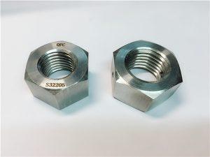 No.76 Duplex 2205 F53 1.4410 S32750 attaches en acier inoxydable écrou hexagonal lourd